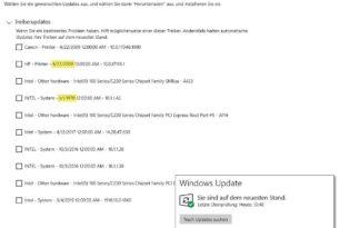Optionale Treiberupdates unter Windows 10 sind nur für Problemfälle da