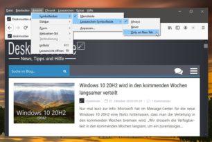 Firefox 84 bekommt Auswahl für die Anzeige der Lesezeichen-Symbolleiste