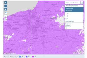 Funkloch-Karte filtert jetzt nach Anbieter und Technologie