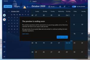 Kalender App als Preview wird wohl eingestampft