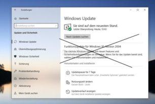 KB4577062 und KB4577671 blockiert das Funktionsupdate auf die Windows 10 2004 [Workaround]