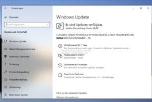 KB4586238 Windows 10 20231.1005 Insider erhält ein kumulatives Update