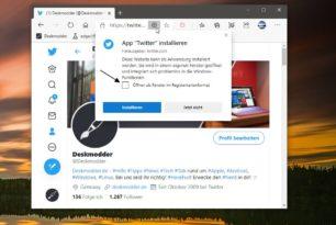 Microsoft Edge Tabs in PWAs lassen sich aktivieren