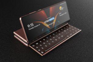 Samsung Galaxy Z Fold mit ausziehbarer Tastatur als Patent