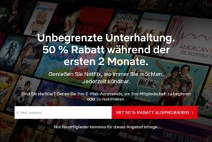 Netflix: Neukunden bekommen Gratismonat oder Rabatte
