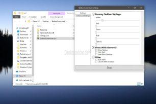 TaskbarCustomizer Windows 10 Taskleiste wie eine Dock-Leiste platzieren