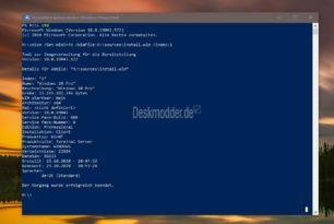 Windows 10 20H2 /1909 Falsche Build-Nummer wird in der install.wim angezeigt