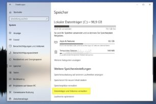 Windows 10 Datenträger werden nun überwacht – Speicherkapazität, Zuverlässigkeit, verbleibende Lebensdauer