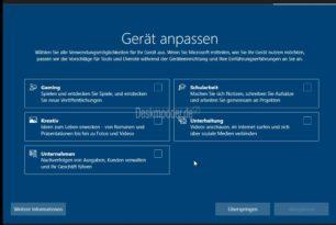 """Windows 10  Die neue Auswahl """"Gerät anpassen"""" in Deutsch und weitere Infos"""