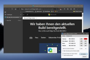 Microsoft Edge 88.0.685.3 im Dev Kanal Vertikale Tabs werden nach und nach ausgerollt