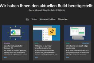 Microsoft Edge 88.0.702.0 wieder mit neuen Funktionen und Korrekturen im Dev Kanal