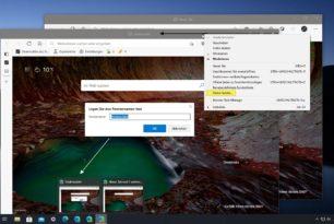 Microsoft Edge: Fensternamen ändern wurde nativ integriert