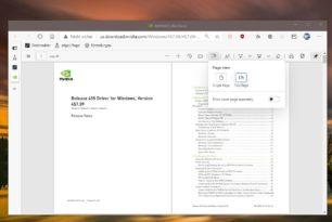 Microsoft Edge PDF-Dateien in Zwei-Seiten Ansicht