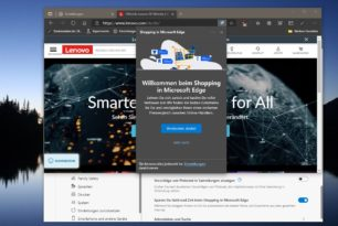 Microsoft Edge Shopping Gutscheine in der Adressleiste [Update]