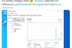Windows 10 ARM auf einem Mac mit M1 Chip über QEMU installiert