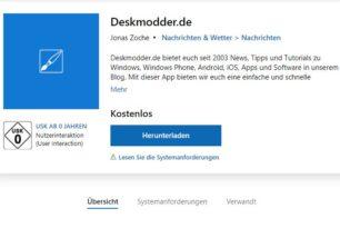 In eigener Sache: Bildvorschau in der Windows 10 Deskmodder App funktioniert wieder