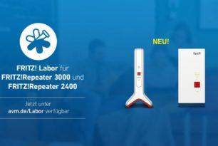 FRITZ!Repeater 2400 und 3000 mit Update auf die 7.24 84849 bzw. 84853