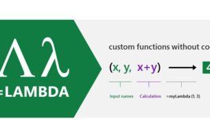 LAMBDA Neu in Excel – Wandelt Excel-Formeln in benutzerdefinierte Funktionen um