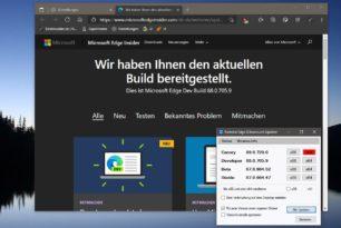 Microsoft Edge 88.0.705.9 im Dev-Kanal vor dem Sprung zur Version 89