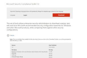 Security Baseline (FINAL) für Windows 10 20H2 wurde bereitgestellt