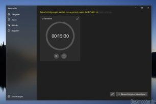 """Windows 10 Alarm und Uhr im neuen """"Sun Valley"""" Design"""