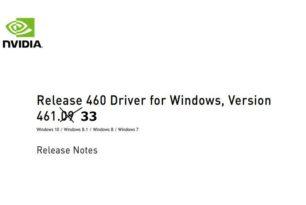 GeForce 461.33 Hotfix Treiber steht zum Download bereit
