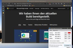 Microsoft Edge 89.0.760.0 steht im Dev-Kanal mit weiteren neuen Funktionen zum Download bereit