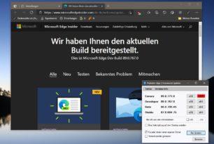 Microsoft Edge 89.0.767.0 im Dev-Kanal mit weiteren neuen Funktionen