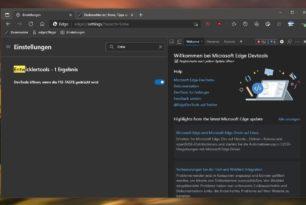 Microsoft Edge: F12 Taste in den Einstellungen deaktivieren