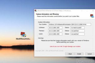 UltraUXThemePatcher 4.1.0 (4.1.1) unterstützt die Windows 10 21H2