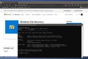 Windows File Recovery – Daten wiederherstellen in einer neuen Version