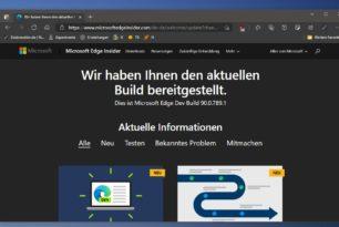 Microsoft Edge 90.0.789.1 steht im Dev Kanal mit weiteren Verbesserungen zum Download bereit
