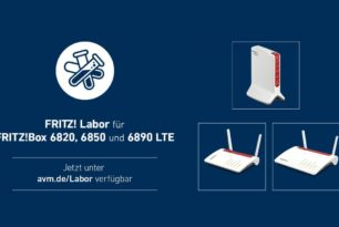 FRITZ!Box 6890 LTE, 6850 LTE, 6820  LTE v1, v2 und v3 mit einem neuen oder ersten Laborupdate