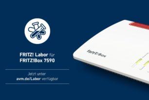 FRITZ!Box 7590 mit einem weiteren Labor Update vor der 7.25