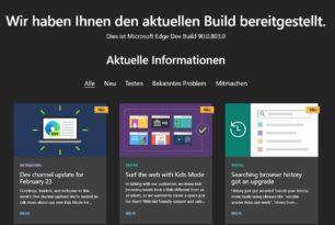 Microsoft Edge 90.0.803.0 im Dev Kanal jetzt mit Mini-Menü in PDFs für alle