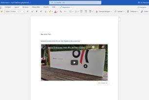 Word Online (Web) kann nun Webvideos und interaktive Apps einbetten