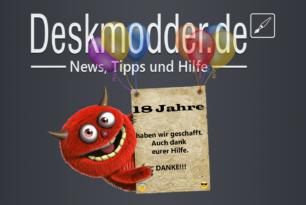 Wir haben Geburtstag: Deskmodder.de wird mit 18 Jahren volljährig – Ein Paket wartet auf euch