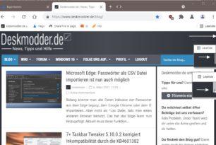 Edge / Chrome: Scrollleiste im Browser ausblenden