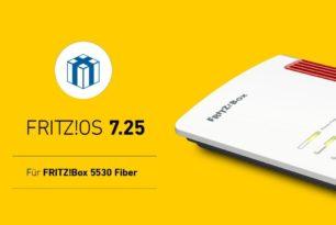 FRITZ!Box 5530 Fiber erhält das FRITZ!OS 7.25