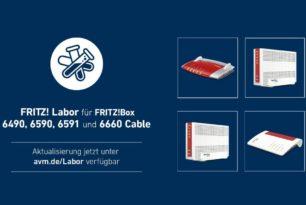 FRITZ!Box 6591, 6590, 6660 und 6490 Cable mit einem neuen Labor-Update | 5.03.21