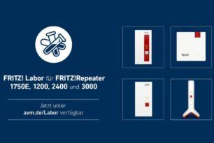FRITZ!Repeater 3000, 2400, 1200 und 1750E auch mit einem Labor-Update | 5.03.21