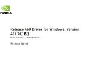 GeForce Hotfix Treiber 461.81 korrigiert einige Fehler