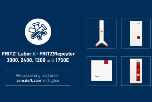 FRITZ!Repeater 1750E, 1200, 2400 & 3000 erhalten neues Update im FRITZ! Labor
