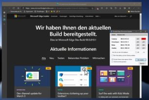 Microsoft Edge 90.0.810.1 steht im Dev Kanal mit neuen Funktionen zur Verfügung
