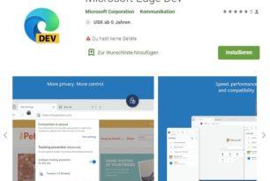 Android: Microsoft Edge Dev ist nun auch im Play Store verfügbar
