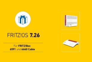 FRITZ!Box 6660 und 6591 Cable erhalten finales FRITZ!OS 7.26