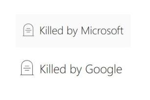 Dienste, Apps und Hardware die Google und Microsoft schon eingestellt haben
