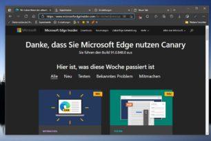 Microsoft Edge: Suchmaschine in der Adresszeile per Doppelklick aktivieren