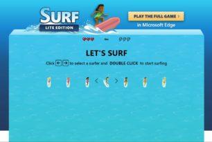 Microsoft Edge Surf-Game als Lite Edition im Web