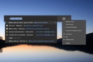 Microsoft Edge: Webwidget jetzt mit mehreren Layouts
